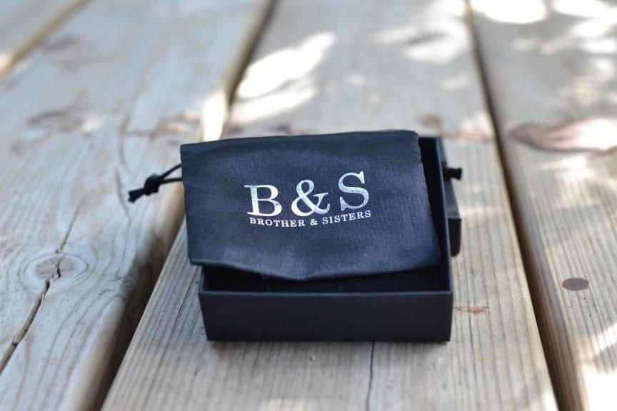 black B&S pouch